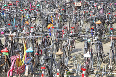 Lots of bikes in Rotterdam, Netherlands Stock Photos