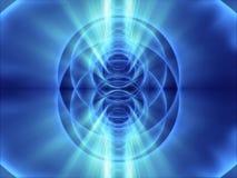 Lots blaue Gefäße der Fantasie und blaues helles glänzt Stockfotos