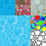 Lots of blue bubbles. Royalty Free Stock Photos