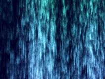 Lots of blue and green particles. In black background Stock Image