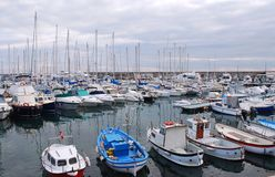 Lots of boats in the harbour Royalty Free Stock Photography