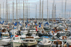 Lots of boats in the port of Sanremo, Italy Royalty Free Stock Photos