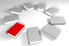 Lots of books. Together 3d design Royalty Free Stock Photo
