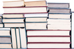The lots of books arranged as background. Lots of books arranged as background stock photography