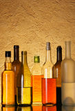 Lots Bottles Of Alcohol Royalty Free Stock Photos
