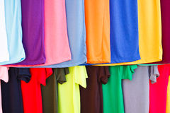Lots of bright colorful clothing Royalty Free Stock Photography