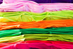 Lots of bright colorful clothing Royalty Free Stock Images