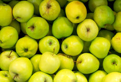 Lots of bright green apples. Stock Photography