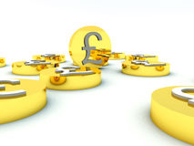 Lots Of British Pound Coins 5 Stock Photography