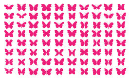 Lots of butterflies - [80 Pink Butterflies] Stock Image