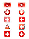 A lots buttons with a help mark icon Royalty Free Stock Photography