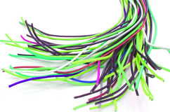 Lots of Cables. A bunch of colorful cables stock photography