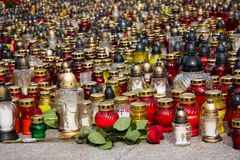 Lots of candles and lanters liting Stock Images