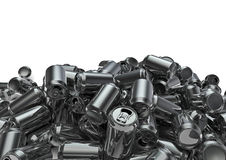 Lots of cans. 3D render of generic soda or beer cans for recycling Stock Image
