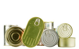 Lots of cans Royalty Free Stock Image