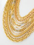 Lots of chains. Lots of gold designed chains Stock Photo