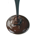 Lots of chocolate falling Stock Images