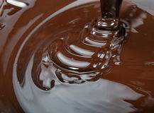 Lots of chocolate falling Stock Photo