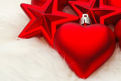 Lots of Christmas decorations Royalty Free Stock Photos