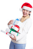 Lots of Christmas gifts Royalty Free Stock Photo