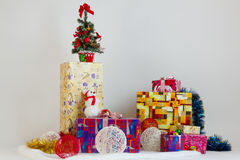Lots of Christmas gifts Stock Images