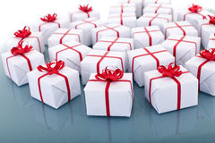 Lots of christmas presents Royalty Free Stock Photography