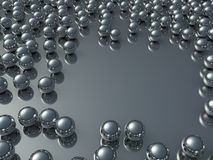Lots of chrome balls Stock Image