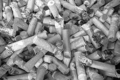 Lots of cigarette buts as background Stock Images