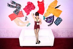 Lots of clothes Royalty Free Stock Images