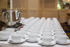 Lots of coffee cups Royalty Free Stock Photo