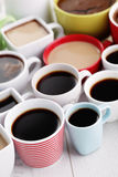 Lots of coffee cups Royalty Free Stock Image
