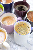 Lots of coffee cups Royalty Free Stock Photography