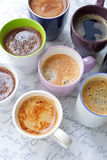 Lots of coffee cups Stock Photography