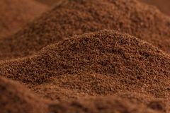 Lots of coffee looking like valleys and mountains Royalty Free Stock Image