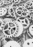Lots of cogs. 3D render of different cogs filling image Royalty Free Stock Photography