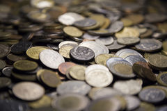 Lots of coins, pot of money Royalty Free Stock Images