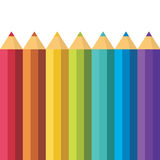 Lots of colored pencils. Royalty Free Stock Photo