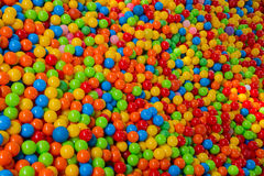 Lots of colored plastic balls Royalty Free Stock Photography
