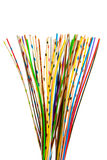 Lots of colored wires. A bunch of colorful cables Stock Images