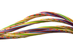 Lots of colored wires. A bunch of colorful cables Stock Photos