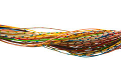 Lots of colored wires. A bunch of colorful cables Royalty Free Stock Photography