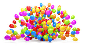 Lots of colorful balloons Stock Images