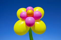 Lots of colorful balloons on  sky background Stock Image
