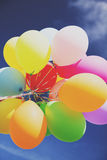 Lots of colorful balloons in the sky Stock Images