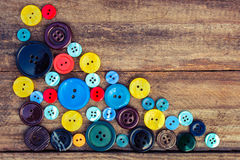 Lots of colorful buttons for clothes Royalty Free Stock Photos