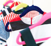 Lots of colorful dresses. Royalty Free Stock Photo