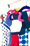 Lots of colorful dresses. Royalty Free Stock Photos