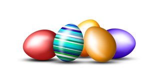Lots of colorful Easter eggs Royalty Free Stock Photos