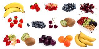 Lots of colorful fruit Stock Photo