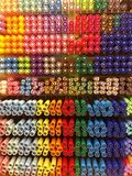 Lots of colorful markers, markers, pencils royalty free stock photo
